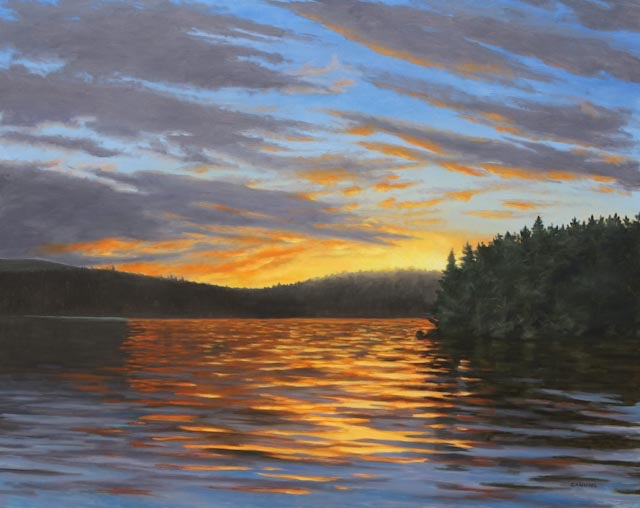 Algonquin Sunset 32x40 Oil on Panel