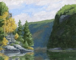 Barren Canyon  Petawawa Gorges on Canvas Board