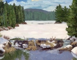 Beaver Dam Arowhon Road Oil on Panel