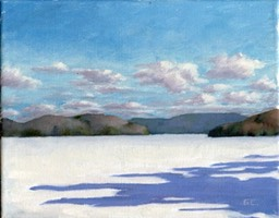Frozen Lake Oil on Canvas