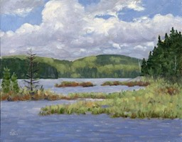 Small Bay Algonquin Oil on Panel