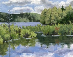 Summer on the Lake Oil on Panel