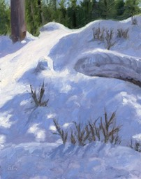 Winter Hillside Oil on Board